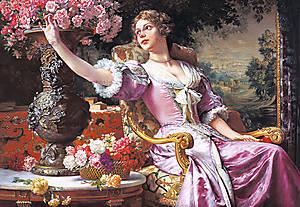 Пазл на 3000 деталей «Дама в лиловом», C-300020