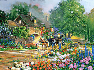 Пазл на 3000 деталей «Дом в розах», C-300235