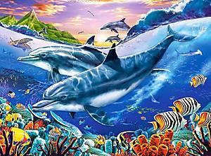 Пазл на 3000 деталей «Лагуна дельфинов», C-300259