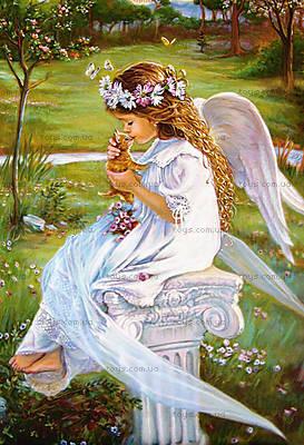 Пазл на 500 деталей «Ангел целует котёнка», В-51748