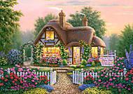 Пазл на 500 деталей «Домик в кустах роз», В-51700