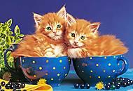 Пазл на 500 деталей «Котята в чашках», В-51212