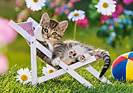 Пазл на 500 деталей «Котёнок на стуле», В-51779, купить