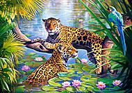 Пазл на 500 деталей «Леопарды в джунглях», В-51588, купить