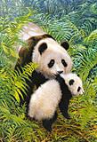 Пазл на 500 деталей «Мама-Панда», В-51656, фото
