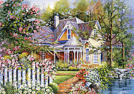 Пазл на 500 деталей «Загородный дом», В-51878