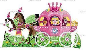 Пазл напольный «Карета принцессы», 39 частей, J02818, купить