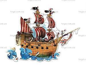 Пазл напольный «Пиратский корабль», 39 частей, J02819, купить