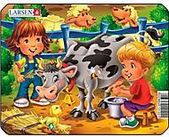 Пазл рамка-вкладыш «Дети и корова», Z11 (1-4)-3, купить