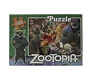 Пазлы 260 элементов «Зоотопия», ZOO1, купить