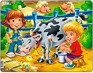 Пазл рамка-вкладыш «На Ферме. Дети и корова», BM5, фото