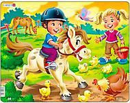 Пазл рамка-вкладыш «На Ферме. Маленький всадник», BM8, фото