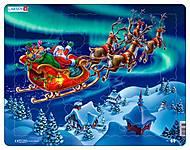 Пазл рамка-вкладыш «Санта Клаус в северном сиянии», XM1
