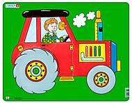 Пазл рамка-вкладыш «Трактор», NM3