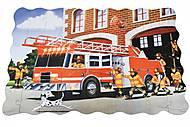 Пазл-раскраска Same Toy «Пожарная машина», 2038Ut, фото