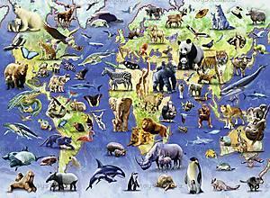 Пазл Ravensburger «Редкие виды животных», 500 элементов, 14264, купить