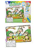 Пазл - раскраска с обезьянками, 132092-JP, купить
