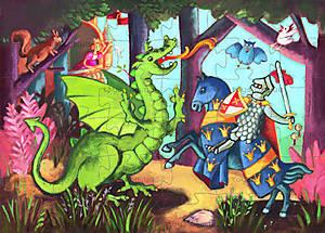 Пазл «Рыцарь и дракон», DJ07223, купить