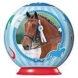 Пазл-шар Ravensburger «Спортивные лошади», 54 элемента, 11909, фото