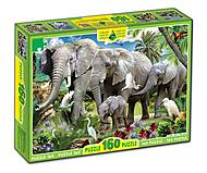 Пазл «Слоны»160 элементов, 82968