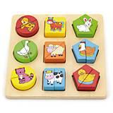 Пазл Viga Toys «Формы. Животный мир», 59585