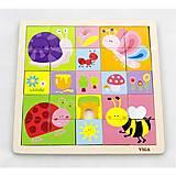 Пазл Viga Toys «Насекомые», 50150