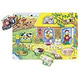 Пазл-вкладыш деревянный goki «Веселая ферма», 57805G, отзывы