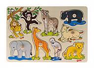 Пазл-вкладыш goki «Африканские животные», 57829, купить