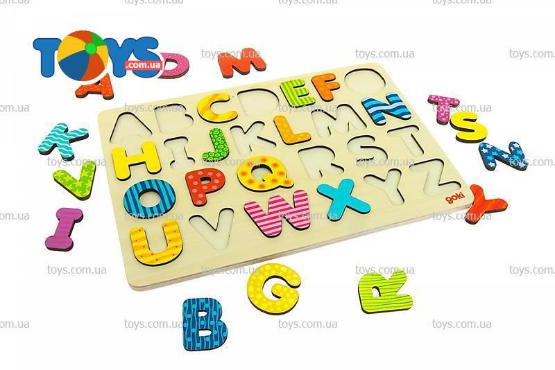 3a0da4bbe Пазл-вкладыш goki «Алфавит английский» - Деревянные пазлы в интернет ...