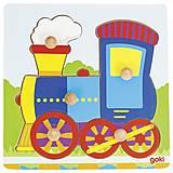 Пазл-вкладыш goki «Поезд», 57551G, купить