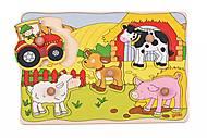 Пазл-вкладыш goki «Веселая ферма», 57515G-1, отзывы