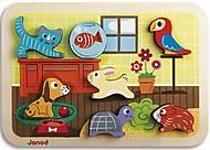 Пазл-вкладыш Janod «Животные», J07024, фото
