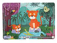 Пазл с рамкой «Леопарды» 21 элемент, R300185, фото
