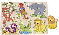 Пазл звуковой goki «Зоопарк», 57862G, toys.com.ua