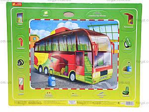 Пазлы на планшете «Автобус», 6334-5