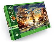 """Пазлы 1000 элементов """"Sea Battle"""", C1000-12-08, toys.com.ua"""