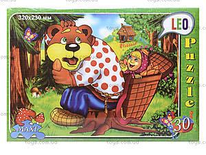 Пазлы для детей «Маша и медведь», 30 элементов, 216-12, купить