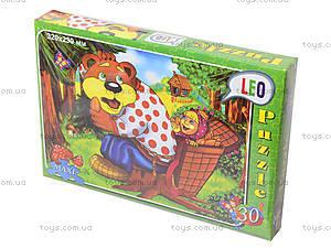Пазлы для детей «Маша и медведь», 30 элементов, 216-12, фото