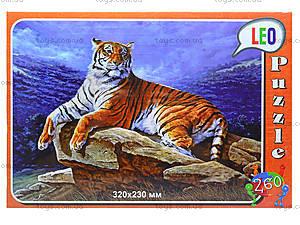 Пазлы для детей «Тигр на камне», 260 элементов, 219-4, купить