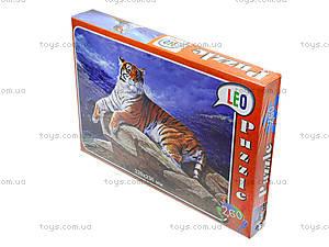 Пазлы для детей «Тигр на камне», 260 элементов, 219-4, фото
