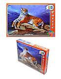 Пазлы для детей «Тигр на камне», 260 элементов, 219-4