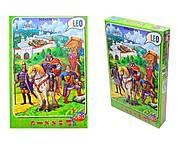 Пазлы детские «Три богатыря», 260 элементов, 219-8, фото