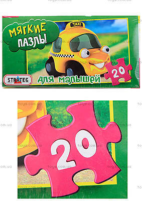 Пазлы «Машина» в коробке, 255-1