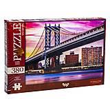 Пазлы «Манхэттенский мост. Нью-Йорк, США» 380 элементов, C380-04-08, фото