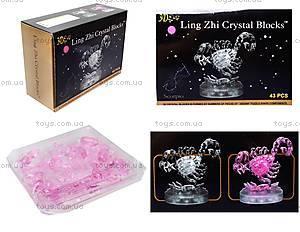 3D пазл crystal puzzle «Зодиак Скорпион», 9046