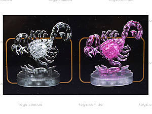 3D пазл crystal puzzle «Зодиак Скорпион», 9046, цена