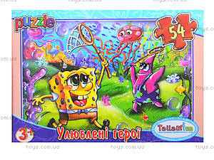 Детские пазлы MINI «Любимые герои», 54 элемента, 33210, игрушки