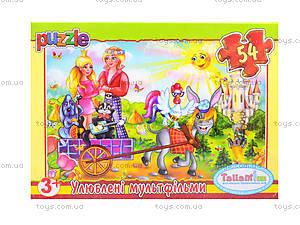 Детские пазлы MINI «Любимые мультфильмы», 54 элемента, 23210, фото