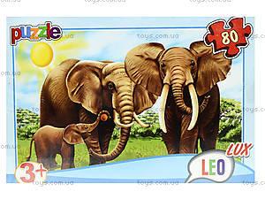 Пазл для детей «Любимые животные», 80 деталей, 357, фото