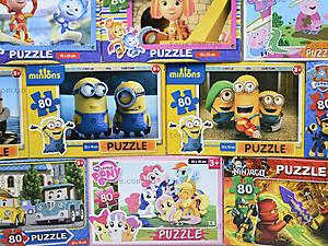 Детские пазлы с героями мультфильмов, 80 элементов, , фото
